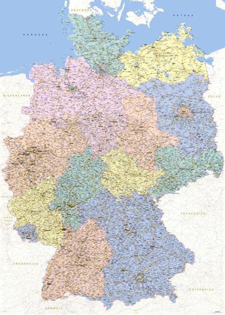 deutschland karte kaufen Landkarten Giant XXL Poster   Deutschlandkarte 1:640.000   Größe