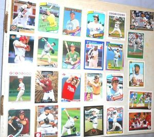 Lot-of-100-MLB-Baseball-Trading-Cards-assorted-teams-players-years-amp-brands