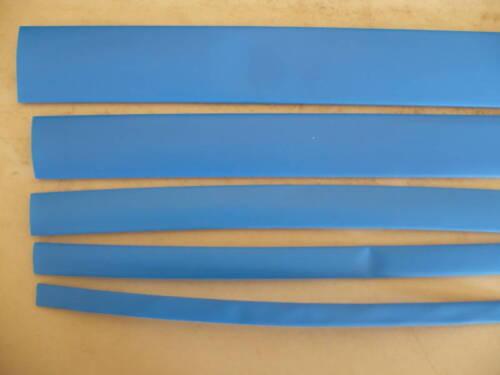 1//4 3//8 1//2 3//4 1.0 HEAT SHRINK 4 feet each. BLUE