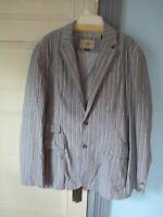 Black Brown 1826 Jacket Size Xl 100% Cotton Jacket Lined Gray