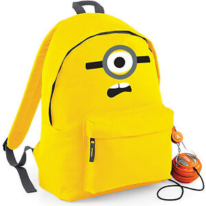 Image Is Loading One Eyed Minion Rucksack Bag Deable Me School