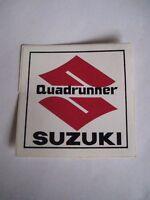 Suzuki Quadrunner Factory Decal