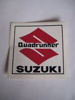 Suzuki Quadrunner Factory Decal