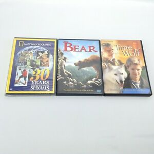 LOT 3 ANIMAL DVD MOVIES The Bear TIME OF THE WOLF 30 Years National Geographic