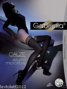 670541edde9548 Details zu Gabriella Exklusive Halterlose Strümpfe Gabriella Calze Azurro  60 DEN