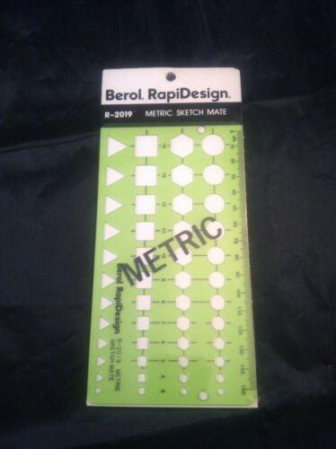 Berol Rapidesign Template R-2019 Metric Sketch Mate