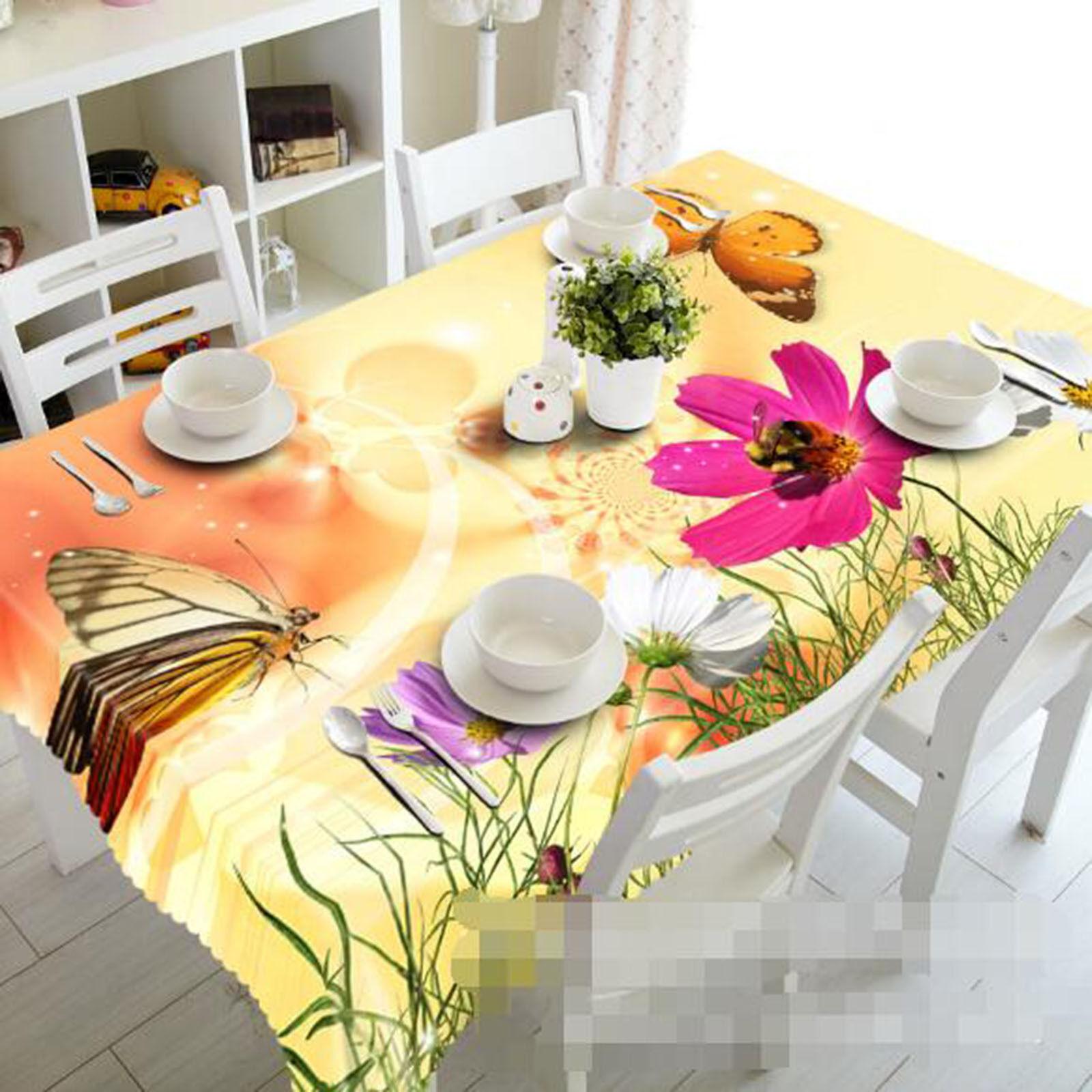 Fleurs 3D 408 Nappe Table Cover Cloth fête d'anniversaire AJ papier peint Royaume-Uni Citron