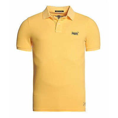 Superdry Polo destroyed en maille piquée Pour homme Washed Satsuma