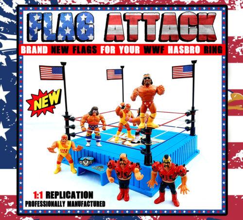 WWF HASBRO BLUE RING FLAG REPRO WRESTLING WWE KOTR FLAGGE BLAU