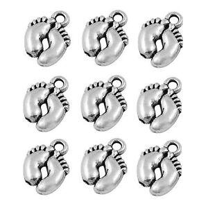 Tibetan-Silver-Charms-Baby-Feet-Pendant-20-Pieces