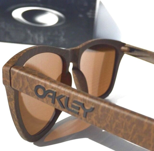 51d8f85329f NEW  Oakley Frogskins Tobacco w DARK Bronze Sunglass 9013-76 Golf Bike Run