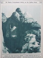1917 ALPINE SENTRY POST 8000 FEET UP SNOW CAMOUFLAGE; SOMME ADVANCE WWI WW1