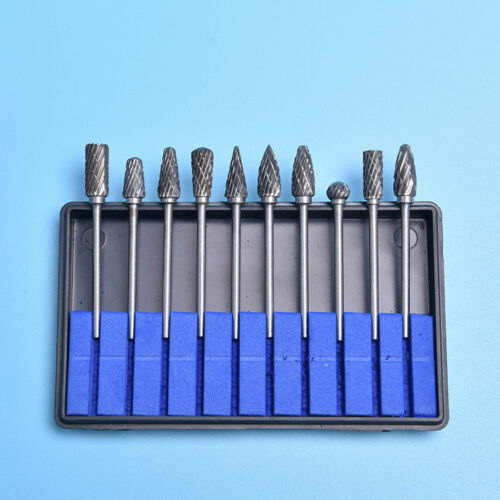 10pcs//kit 6mm Head Tungsten Carbide Burrs For Rotary Drill Bit Die Grinder Shank
