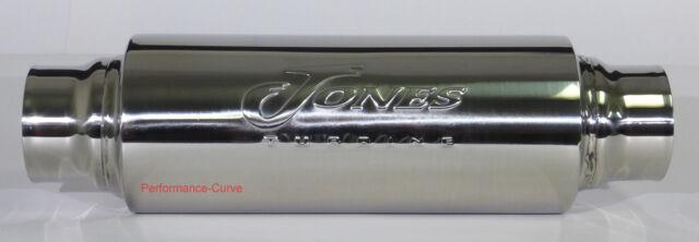 """Jones Exhaust Turbine Muffler / Resonator - 304 Stainless Steel - 2.5"""""""