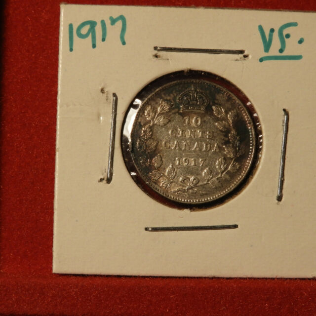 1917 10 Cents VF Condition