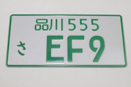 GREEN EF9 JAPANESE LICENSE PLATE TAG JDM Japan 88-91 CIVIC HATCHBACK  CHASSIS