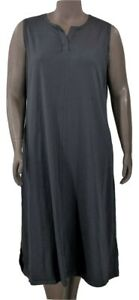 New-44-25-Value-Denim-amp-Co-L-Black-Sleeveless-Perfect-Jersey-Maxi-Dress