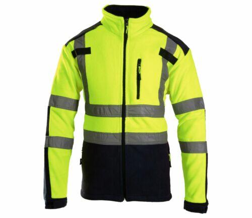 Brixton Flash Herren Fleece Jacke Reflektierend Vlies Schutzjacke Arbeitsjacke
