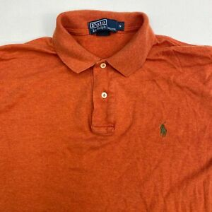 Polo Ralph Lauren Polo Shirt Men's Small Short Sleeve Burnt Orange Hi-Low Cotton