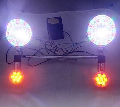 LED Turn Signal COLORFUL Spot lights Bar For Honda Yamaha Suzuki Kawasaki Harley
