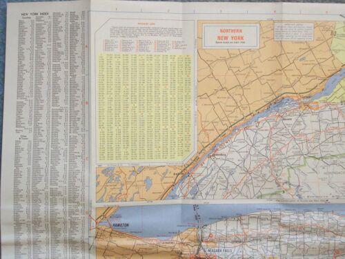 1970 NEW YORK MOBIL TRAVEL MAP