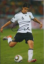 Sami KHEDIRA Autograph 12x8 Photo AFTAL COA German World Cup Real Madrid