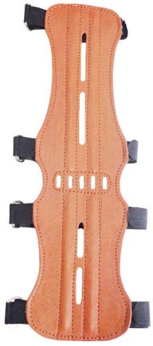 Target Chrome Tan Leather Arm Guard Size:32cm Long x 9cm Archery Products AG200A
