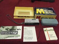 Minolta Spy Camera 16 P W/ Box Manuals & Case 3.5 / 25 Roll or Lens Japan