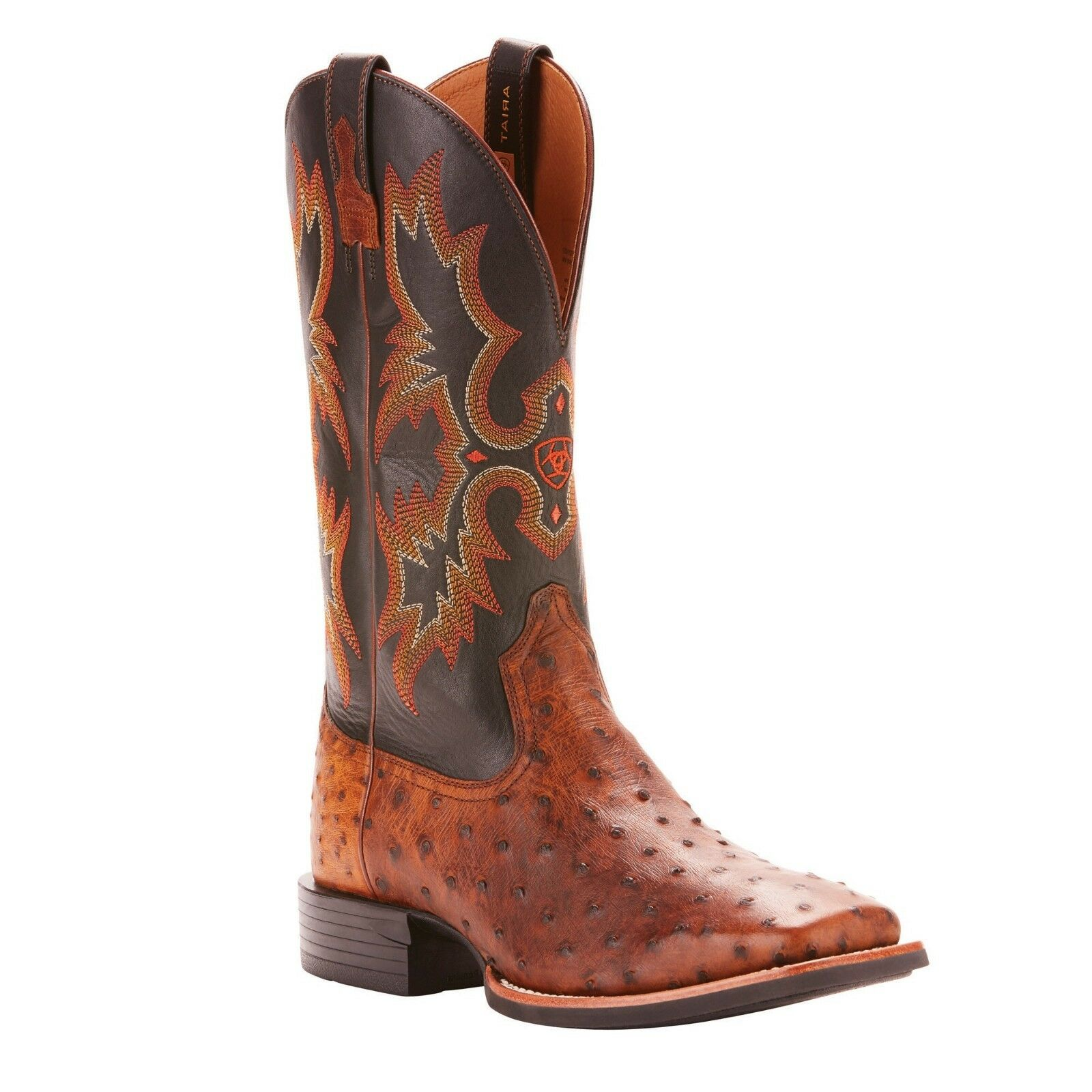 Ariat® Men's Quantum Classic Brown Full Quill Ostrich Boots 10025102