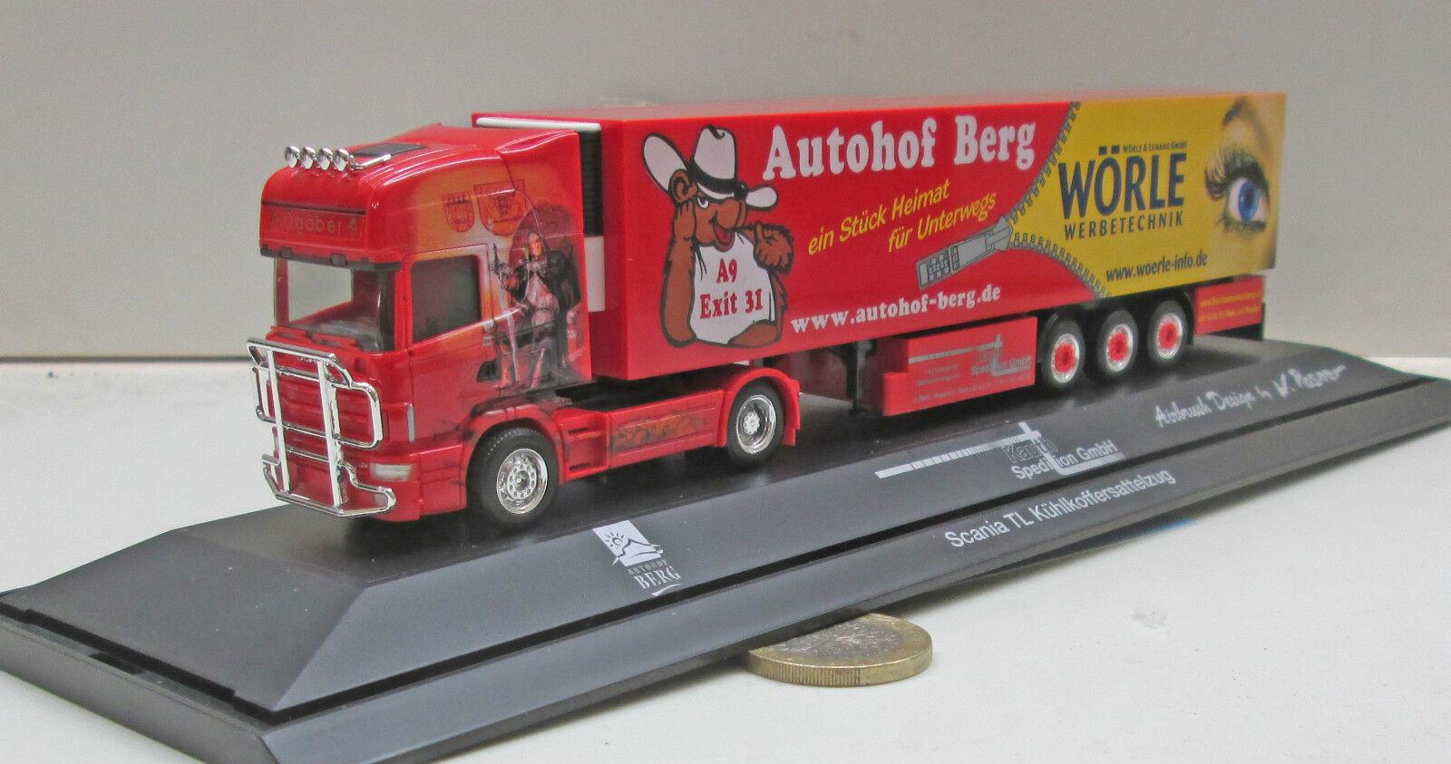 Herpa 120760 Scania TL Kühlkoffer-semi-remorque  ogäber Autohof montagne