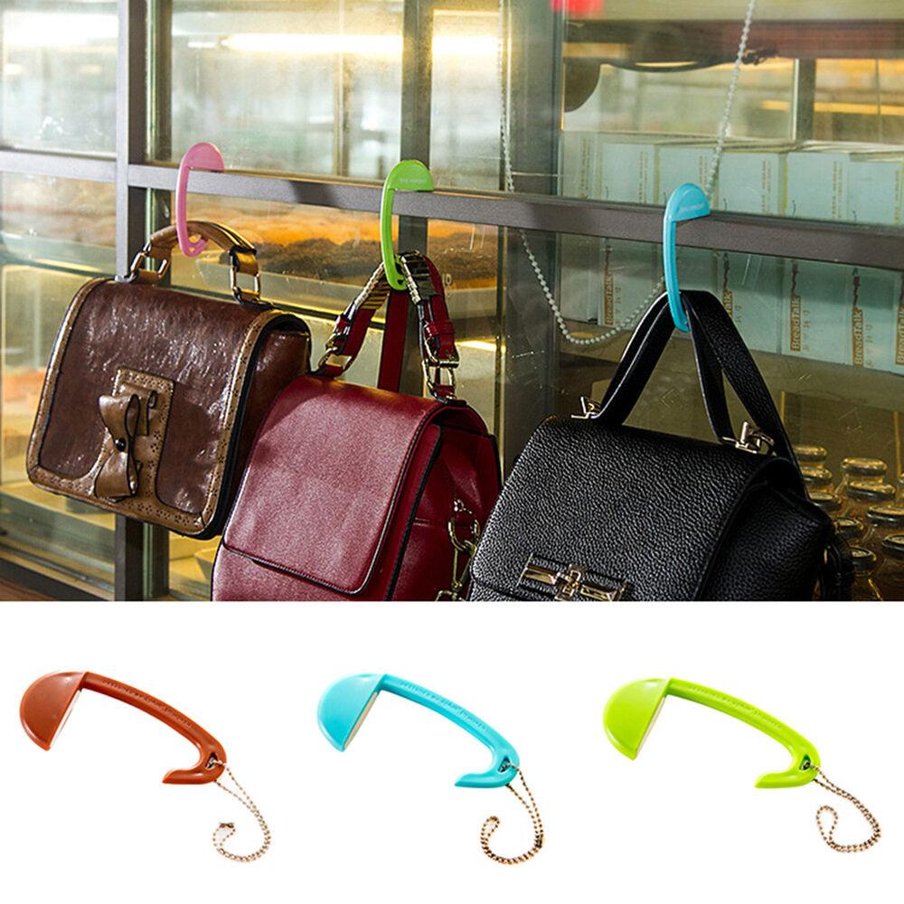 1pc Handbag Hook Portable Foldable Holder Table Desk Side Purse Hanger Bag Tote