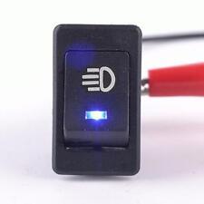 Blue12V Bar Rocker Toggle Switch LED Light Car Boat for Fog Lamps