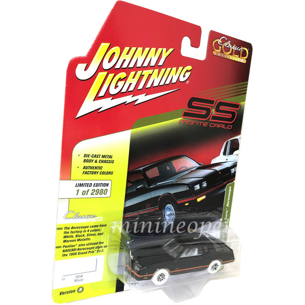 Johnny Lightning jlcp 7109 B 1987 CHEVROLET MONTE CARLO Aerocoupe 1 64 Chase