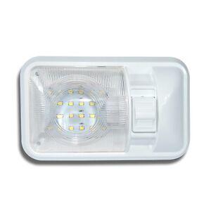 1-RV-12V-Single-Dome-Interior-camper-Trailer-Marine-280-lumens-clear-lens