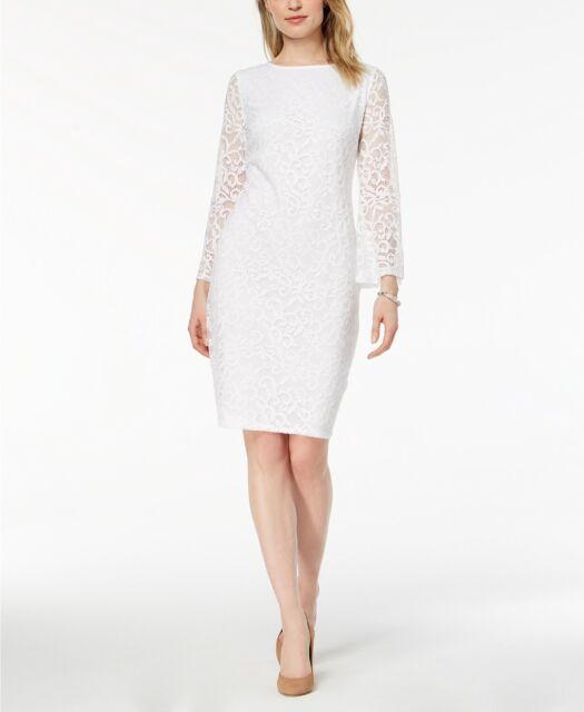 Alfani Lace Bell-Sleeve Sheath Dress MSRP $99 Size 8 # 8A 641 NEW