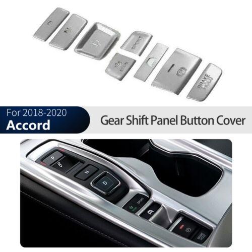 Interior Gear Shift Box Panel Button Cover Trim silve For Honda Accord 2018-2020