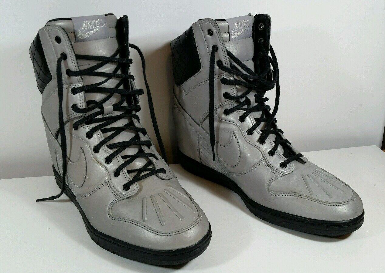 Womens Nike Dunk Sky Hi Sneakerboot Premium Reflect Silver SZ 10 ( 616738-001 )