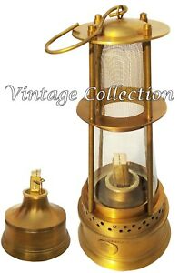 "7/"" Ship Lantern Nautical Maritime Lantern Marine Antique brass Minor oil lamp"
