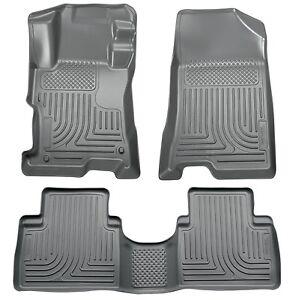 Grey Husky Liners Weatherbeater Floor Mats For 2011 2015 Hyundai Sonata 2 Row Ebay
