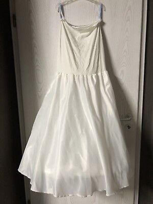 Poirier Crinolina Vestito Da Sposa Dimensione Xs-come Nuovo-ivory-satin - 100 €-mostra Il Titolo Originale Forma Elegante