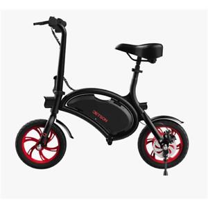 "Jetson Bolt Electric Bike Black/Red Compact Bluetooth 12"" Wheels JBOLT-RED-BT"