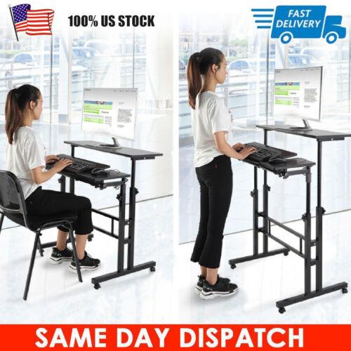 Height Adjustable Standing Up Desktop Computer Laptop Desk Office Home Riser