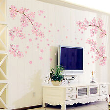 Flower Wall Stickers Blossom Removable Wall Decal Sticker Art DIY Home Decor_US
