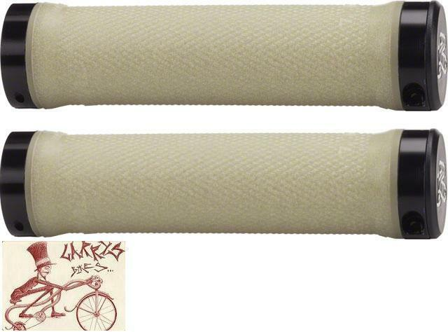 Aramid Renthal Lock On Grips Off White