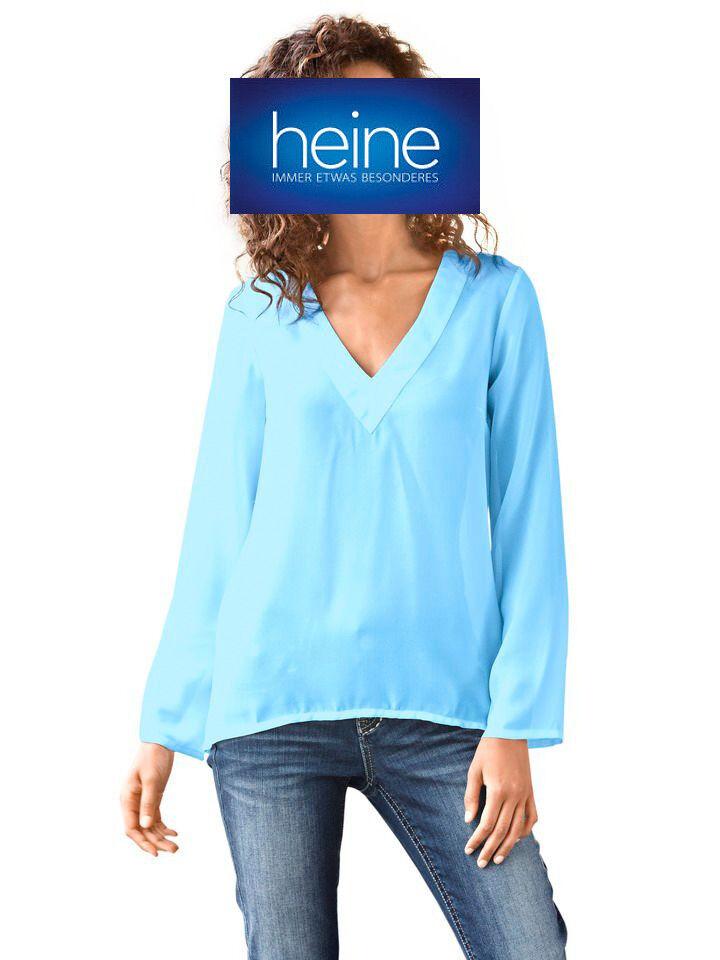 NEU!! KP 39,90 € SALE/%/%/% Best Connections by heine B.C Bluse Weiß-smaragd