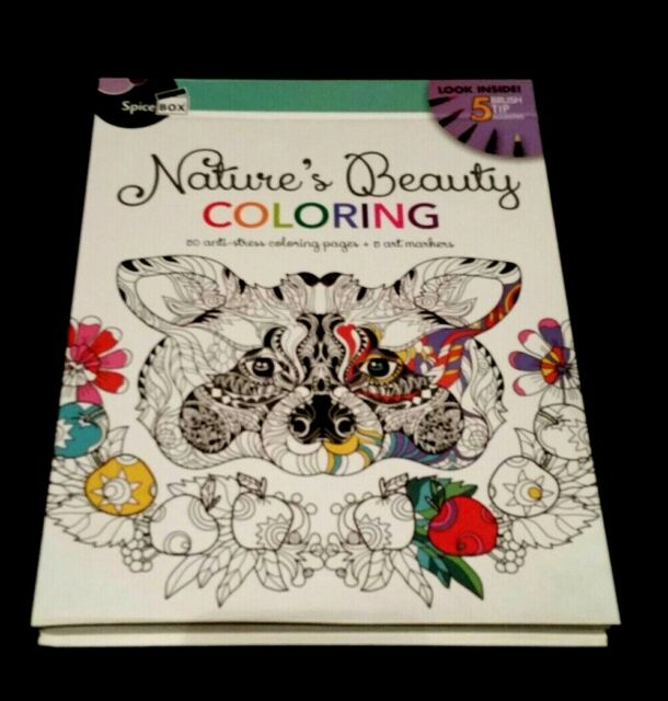 - Nature S Beauty Coloring 50 Anti-stress Coloring Pages 5 Art Marke For Sale  Online EBay