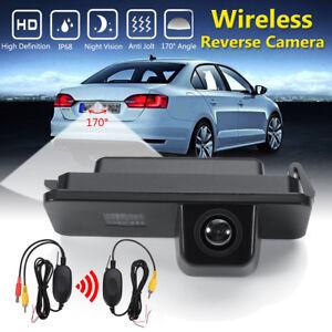 CCD-Camera-de-Recul-Sans-fil-Vision-Nocturne-IP68-pour-VW-Golf-MK4-Seat-Altea