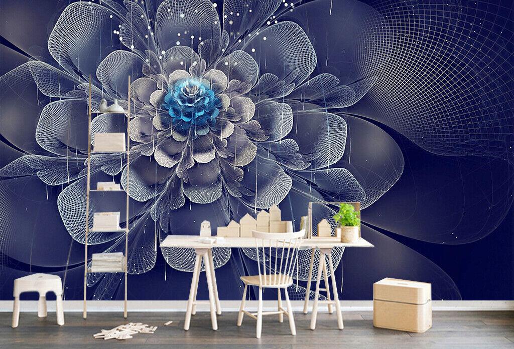 3D Dark Flowers Line I503 Wallpaper Mural Sefl-adhesive Removable Sticker Wendy