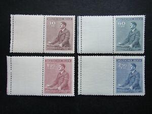 Germany Nazi 1942 Stamps MNH Adolf Hitler 53th birthday WWII B&M Third Reich Ger