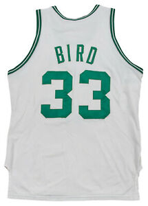 info for 34492 58240 Details about Larry Bird 1986-87 Game Worn Boston Celtics Home Jersey Mears  A10! HOF